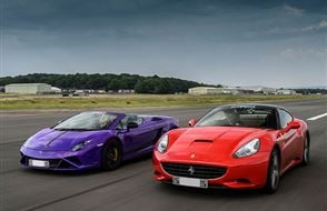 Double Supercar Blast with High Speed Passenger Ride Experience from drivingexperience.com