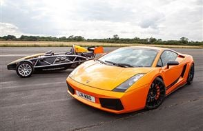 Double Supercar Thrill with High Speed Passenger Ride Experience from drivingexperience.com