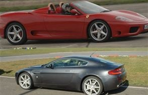 Ferrari v Aston Martin and Hot Laps Experience from drivingexperience.com