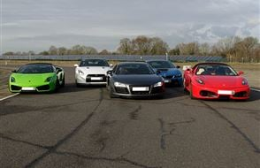 Five Supercar Thrill (Anytime) Experience from drivingexperience.com