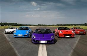 Five Supercar Thrill with High Speed Passenger Ride Experience from drivingexperience.com