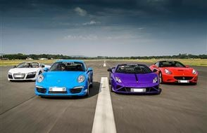 Four Supercar Blast with High Speed Passenger Ride Experience from drivingexperience.com