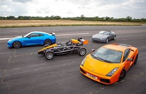 Four Supercar Thrill with High Speed Passenger Ride Experience from drivingexperience.com