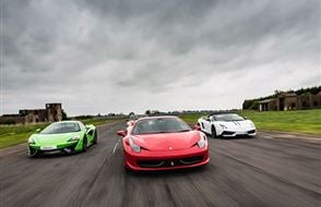 Junior Three Supercar High Speed Passenger Ride (2 miles) Experience from drivingexperience.com
