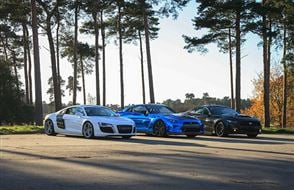 Junior Triple Supercar Blast with High Speed Passenger Ride Experience from drivingexperience.com