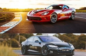 Tesla P90 vs Dodge Viper Experience Experience from drivingexperience.com