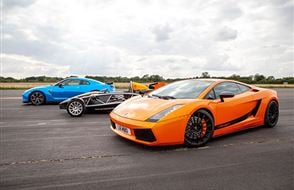 Triple Supercar Thrill with High Speed Passenger Ride Experience from drivingexperience.com