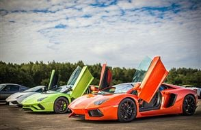 Triple Lamborghini Thrill with High Speed Passenger Ride Experience from drivingexperience.com