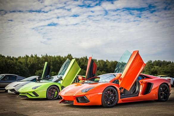 Triple Lamborghini Thrill with High Speed Passenger Ride Driving Experience 1